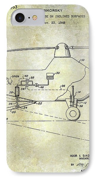 1953 Helicopter Patent IPhone 7 Case