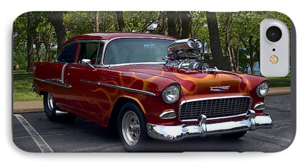 IPhone Case featuring the photograph 1955 Chevrolet Dragster by Tim McCullough