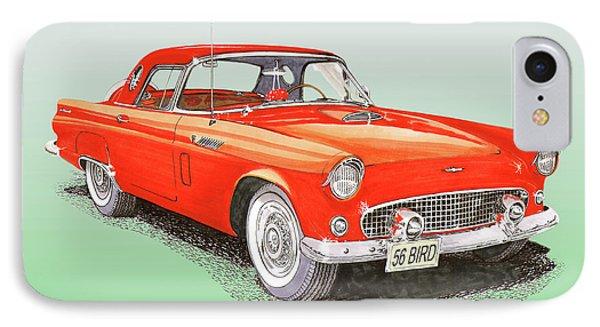 1956 Ford Thunderbird IPhone Case by Jack Pumphrey