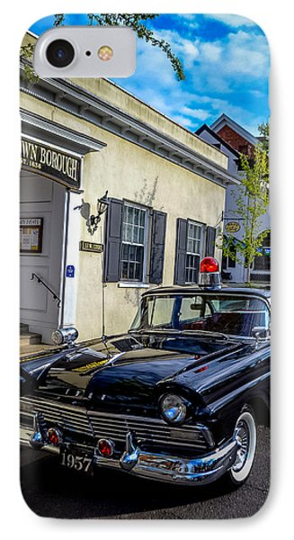 1957 Doylestown Borough Police Cruiser IPhone Case by Michael Brooks