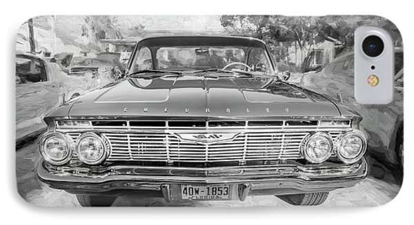 IPhone Case featuring the photograph 1961 Chevrolet Impala Ss Bw by Rich Franco