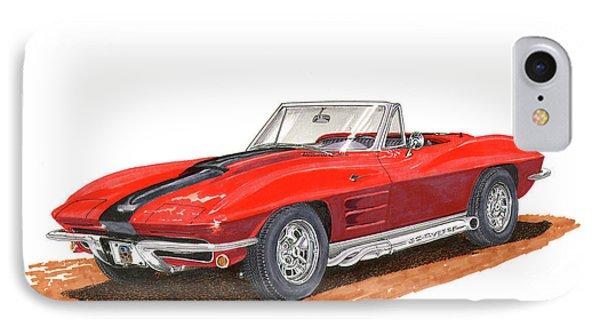 1963 Corvette Stingraw Roadster IPhone Case by Jack Pumphrey