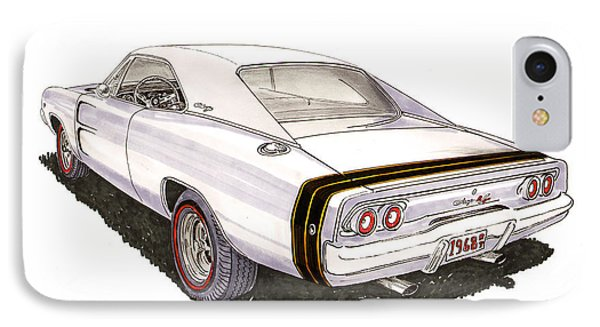 1968 Dodge Charger R T IPhone Case by Jack Pumphrey