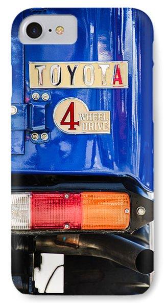 1982 Toyota Fj43 Land Cruiser Rear Emblem -0483c IPhone Case