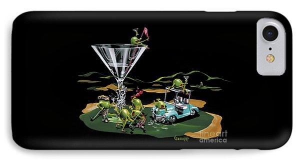Martini iPhone 7 Case - 19th Hole by Michael Godard