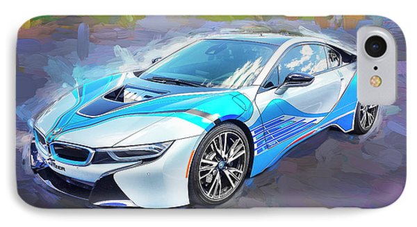 IPhone Case featuring the photograph 2015 Bmw I8 Hybrid Sports Car by Rich Franco
