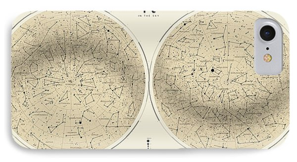2017 Pi Day Star Chart Azimuthal Projection Phone Case by Martin Krzywinski