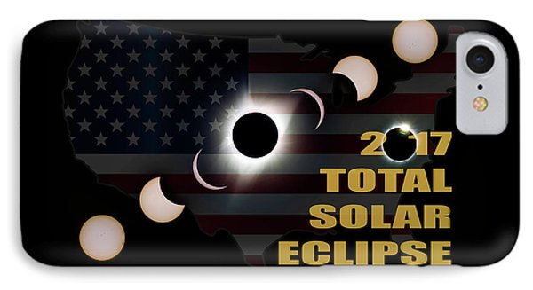 2017 Total Solar Eclipse Across America Phone Case by David Gn