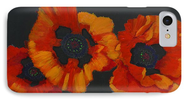 3 Poppies IPhone Case