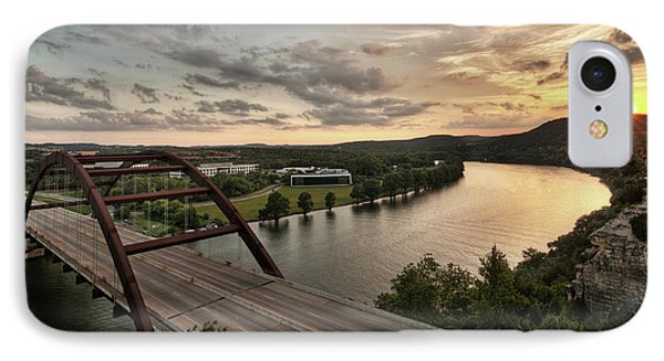 360 Bridge Sunset IPhone Case