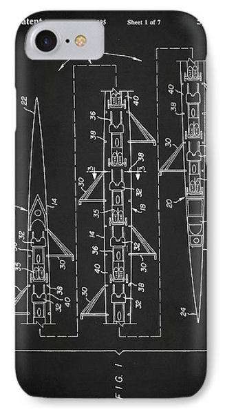 IPhone Case featuring the digital art 8 Man Rowing Shell Patent by Taylan Apukovska