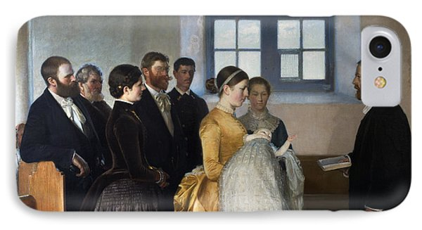 A Baptism IPhone Case by Michael Ancher