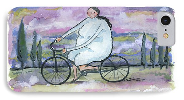 IPhone Case featuring the painting A Beautiful Day For A Ride by Leanne WILKES