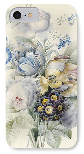 A Bunch Of Flowers IPhone Case by Pierre Joseph Redoute