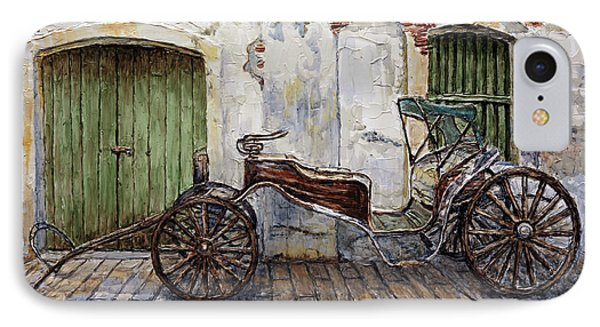 A Carriage On Crisologo Street 2 IPhone Case by Joey Agbayani