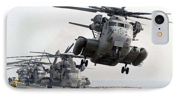 A Ch-53e Super Stallion Lifts Phone Case by Stocktrek Images