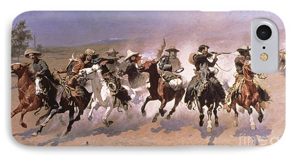 A Dash For The Timber Phone Case by Frederic Remington