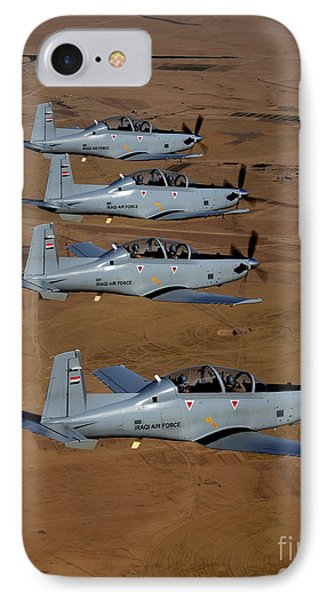 A Formation Of Iraqi Air Force T-6 IPhone Case