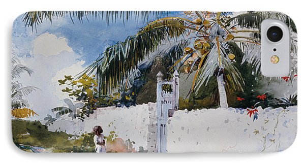 A Garden In Nassau IPhone Case by Winslow Homer
