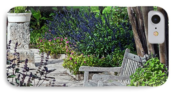 IPhone Case featuring the photograph A Garden Seat by Ken Frischkorn
