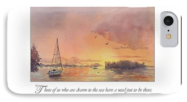 A Hingham Sunset IPhone Case by Laura Lee Zanghetti