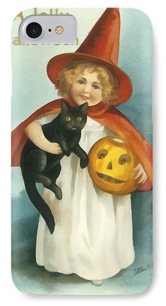 A Jolly Halloween IPhone Case by Ellon Clapsaddle