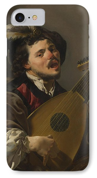A Man Playing A Lute IPhone Case by Hendrick ter Brugghen