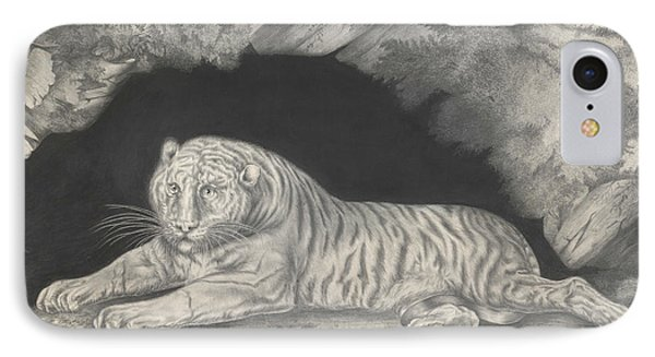A Tiger Lying In The Entrance Of A Cave IPhone Case