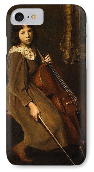 A Young Violoncellist IPhone Case