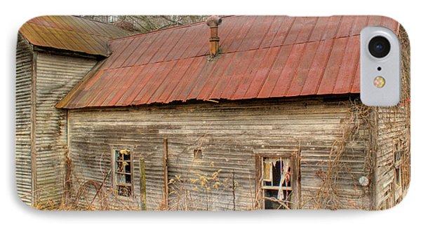 Abandoned Farmhouse In Kentucky IPhone Case by Douglas Barnett