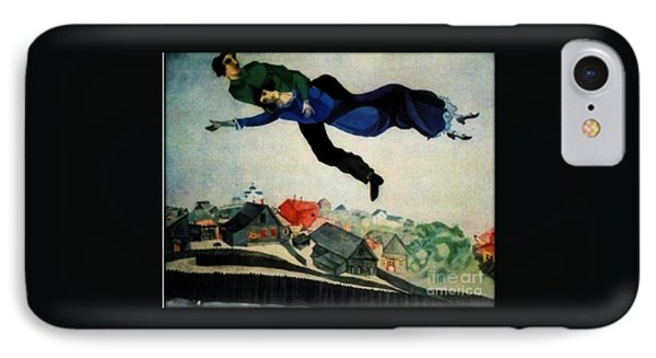 Above The Town IPhone Case by Chagall