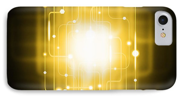 Abstract Circuit Board Lighting Effect  Phone Case by Setsiri Silapasuwanchai