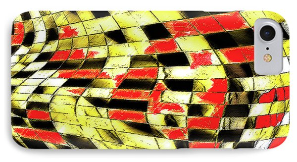 Abstract Curves IPhone Case by Ralph Klein