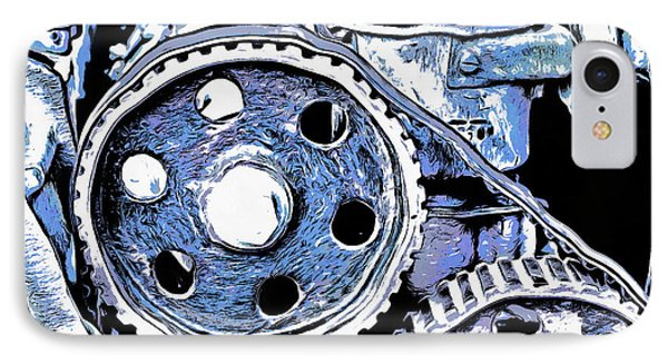 Abstract Detail Of The Old Engine IPhone Case by Michal Boubin