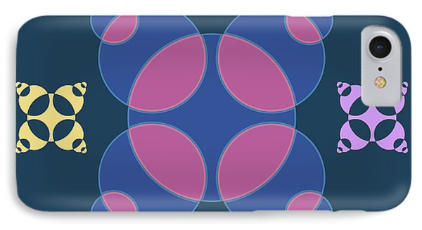 Abstract Mandala Pink, Dark Blue And Cyan Pattern For Home Decoration IPhone Case