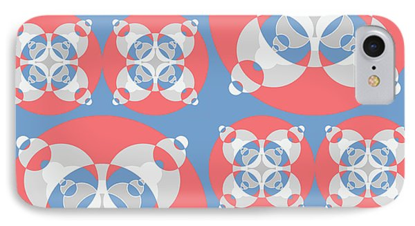 Abstract Mandala White, Pink And Blue Pattern For Home Decoration IPhone Case