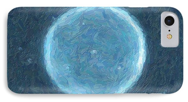 Abstract Nebulla With Galactic Cosmic Cloud 41 Circle 4 IPhone Case by Celestial Images