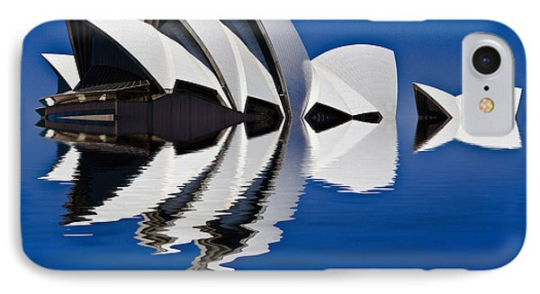 Abstract Of Sydney Opera House Phone Case by Avalon Fine Art Photography