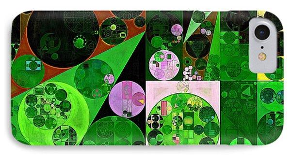 Abstract Painting - Deep Fir IPhone Case by Vitaliy Gladkiy