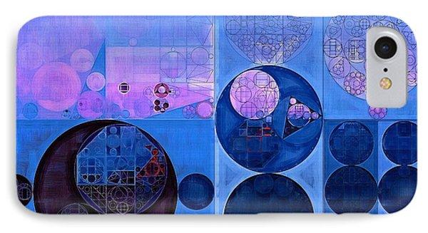 Abstract Painting - Han Blue IPhone Case by Vitaliy Gladkiy
