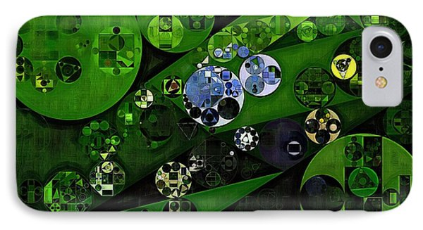Abstract Painting - Lincoln Green IPhone Case by Vitaliy Gladkiy