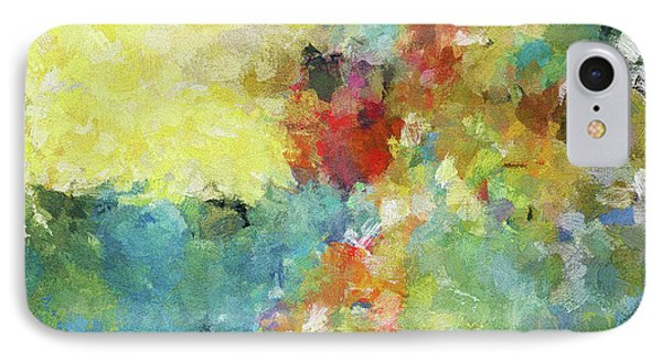 IPhone Case featuring the painting Abstract Seascape Painting by Ayse Deniz