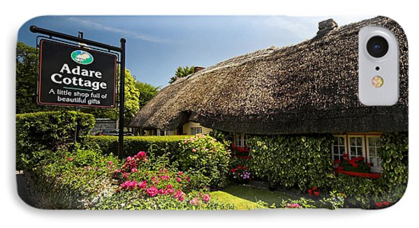 Adare Thatch Roof Cottages Ireland Phone Case by Pierre Leclerc Photography