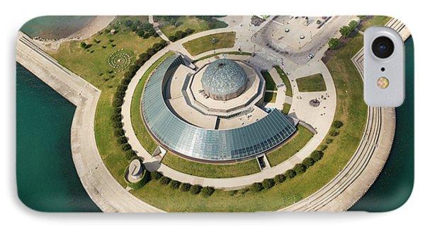 IPhone Case featuring the photograph Adler Planetarium Aerial by Adam Romanowicz