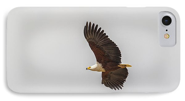 IPhone Case featuring the tapestry - textile African Fish Eagle by Kathy Adams Clark