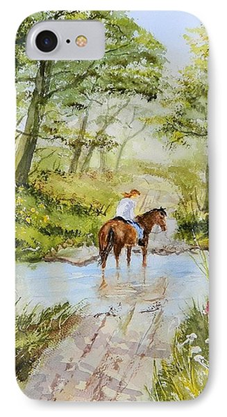 Afternoon Ride IPhone Case by Jim Decker