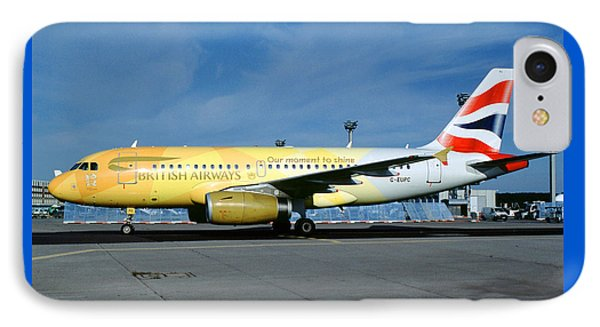 Airbus A319-131, British Airways, G-eupc, Olympic Torch Relay, O IPhone Case by Wernher Krutein