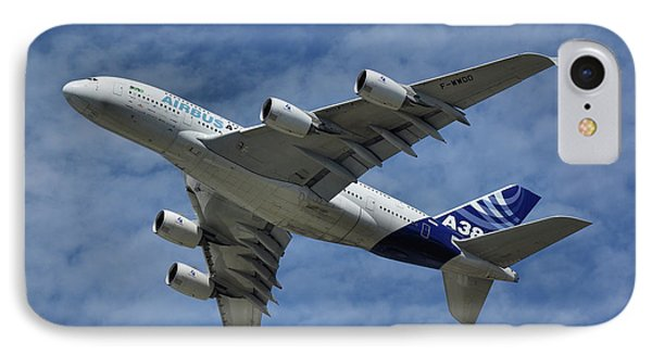 IPhone Case featuring the photograph Airbus A380 by Tim Beach