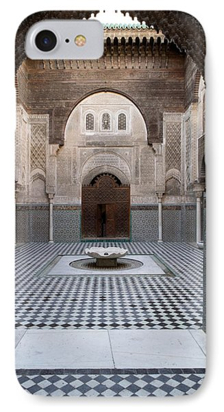 Al-attarine Madrasa Built By Abu IPhone Case by Panoramic Images