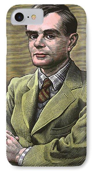 Alan Turing, British Mathematician Phone Case by Bill Sanderson